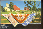 Amish Quilts , PA, Postcard cs2195