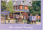 Amish Buggies in Intercourse , PA, Postcard cs2201
