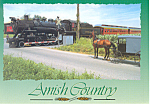 Amish Buggy waiting on Strasburg ,PA,Steam Train Pcard