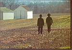 Amish Winter Farm Scene , PA, Postcard cs2212