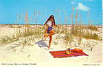 Click here to enlarge image and see more about item cs2230: Sand in My Shoes in Sunny, Florida Postcard