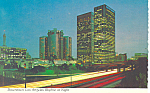 Downtown Los Angeles CA Skyline at Night Postcard cs2231