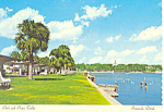 Click here to enlarge image and see more about item cs2244: Park with Picnic Tables, Pensacola, FL Postcard