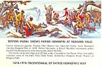 Benton Mural Father Hennepin Niagara Falls Postcard