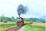 Strasburg Rail Road Steam Train Postcard