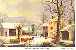 Winter Time at Jones Inn Postcard cs2286