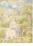 Click here to enlarge image and see more about item cs2299: Albrecht Durer Madonna with Animals Postcard