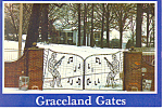 Graceland Tennessee Musical Gates Postcard