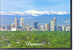 Click here to enlarge image and see more about item cs2335: Denver,CO Skyscraper Skyline Postcard