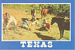 Click here to enlarge image and see more about item cs2340: Texas Cowboys Postcard cs2340