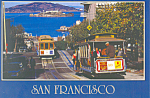 Click here to enlarge image and see more about item cs2341: San Francisco Hyde Street Cable Cars Postcard