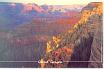 Click here to enlarge image and see more about item cs2358: Sheer Cliffs at the  Grand Canyon Postcard