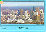Click here to enlarge image and see more about item cs2371: Aerial View of Atlanta, Georgia Postcard