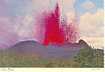 Volcano Eruption Kapoho Hawaii  Postcard cs2388