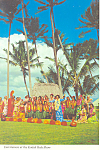 Entertainers at Kodak Hula Show Hawaii Postcard cs2394