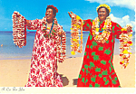 Click here to enlarge image and see more about item cs2399: A Lei for You,Hawaii Postcard