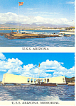 Click here to enlarge image and see more about item cs2408: USS Arizona Memorial Pearl Harbor HI Postcard cs2408