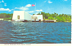 Click here to enlarge image and see more about item cs2411: USS Arizona Memorial Pearl Harbor HI Postcard  cs2411