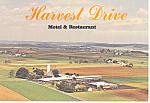 Harvest Drive Motel Gordonville PA Postcard cs2414