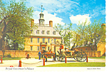 Royal Governor s Palace Willamsburg VA  Postcard cs2442