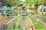 Click here to enlarge image and see more about item cs2454: Meditation Garden,Graceland Tennessee Postcard
