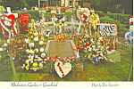 Click here to enlarge image and see more about item cs2455: Meditation Garden Graceland Tennessee Postcard cs2455