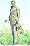 Elvis Presley Statue,Memphis,Tennessee Postcard