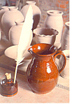 Redware Pottery at Old Sturbridge Village, MA Postcard
