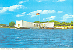 Click here to enlarge image and see more about item cs2487: USS Arizona Memorial Pearl Harbor Hawaii Postcard cs2487