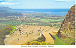Nuuanu Pali Lookout Honolulu Hawaii Postcard cs2491