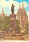 Salt Lake City Utah Brigham Young Monument Postcard cs2493