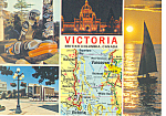 Click here to enlarge image and see more about item cs2532: Map 25 Victoria,British Columbia Canada Postcard cs2532