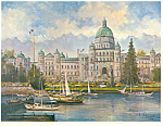 Click here to enlarge image and see more about item cs2536: Parliament Victoria British Columbia Canada Postcard cs2536