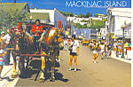 Main Street Mackinac Island MI Postcard cs2559