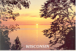 Click here to enlarge image and see more about item cs2564: Beautiful Sunset in Wisconsin Postcard