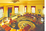 Senate Chamber Congress Hall Postcard PA cs2589