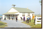 Amish Schoolhouse and Children Postcard cs2596