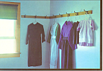 Amish Clothes Postcard cs2599
