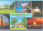Washington DC Six Views Postcard cs2672