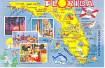 Click here to enlarge image and see more about item cs2689: State Map of  Florida Postcard cs2689