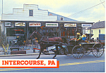 Amish Buggy in front of Hardware Store,Intercourse,PA cs2690