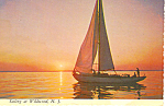 Sailing in Wildwood New Jersey Postcard cs2809