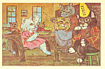 Cats In School Room by James De Musz Postcard cs2835