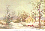Winter in the Country,Currier & Ives Postcard