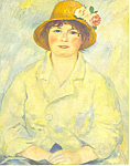 Click here to enlarge image and see more about item cs2845: Auguste Renoir Madame Renoir Postcard cs2845