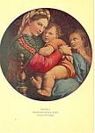 Raphael, Madonna Della Sedia Postcard