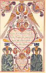1834 Samuel Gottschall Fraktur Postcard