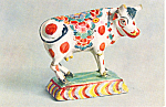 Pottery Cow Dutch Delft Postcard cs2961
