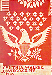 Click here to enlarge image and see more about item cs2967: Eagle Wool Red and White Coverlet Postcard cs2967