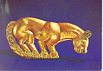Click here to enlarge image and see more about item cs2968: Panther Figurine from Royal Scythian Tombs Postcard cs2968